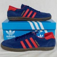 Sepatu Pria Sepatu Adidas Hamburg Blue Red