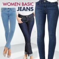 WOMAN BASIC JEANS celana wanita tebal blue black skinny kpop korea