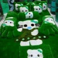 kasur lantai / karpet karakter hello kitty rok hijau