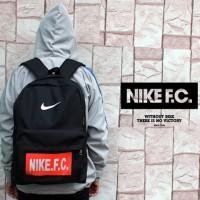 tas ransel/gendong/bag pack/tas sekolah/ Nike FC Hitam Logo Merah