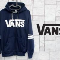 jaket/sweater/jumper/olahraga/sport/Jaket Vans Navy