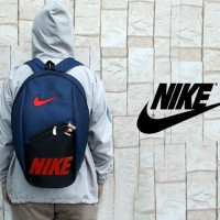 tas ransel/gendong/bag pack/tas sekolah/ Nike Navy Logo Merah