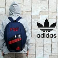 tas ransel/gendong/bag pack/tas sekolah/Adidas Navy Logo Merah