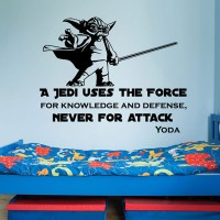 """Tokomonster Star Wars Quote Wall Decal Sticker - Size 23"""""""