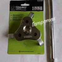 Kunci Filter Oli Tekiro Set + Gagang Sok Two Way Oil Filter Wrench