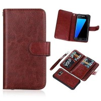 Wallet Case Samsung S7 Leather Case With 9 Card Slot 2 In 1 Magnet