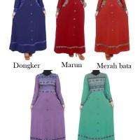 Gamis Jersey Kimbinasi Batik Songket