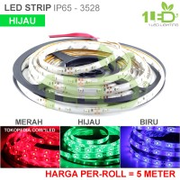 Lampu LED Strip Flexible Hijau Roll 5 Meter 6W IP65 SMD 3528 Motor