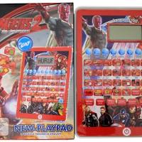 New Playpad Karakter Avengers.Mainan Edukatif mengenal angka dan huruf