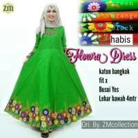 baju gamis katun bangkok keren, baju muslim wanita