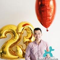 Balon Foil Angka Gold 100cm - 1