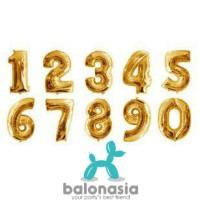 Balon Foil Angka gold 40cm