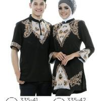 Baju muslim Couple pasangan/baju kemeja stelan sarimbit distro azzura