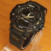 Jam Tangan Pria G-Shock Protrex Dualtime Black list Yellow Kw Super