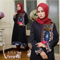 Anaya set black [ setelan baju muslim ]