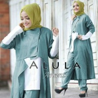 Ananti set hijau [ setelan baju muslim ]