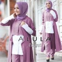 Set Ananti pink dusty [ setelan baju muslim ]