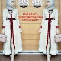 Rendira ratu maroon 3in1 [ setelan baju muslim ]