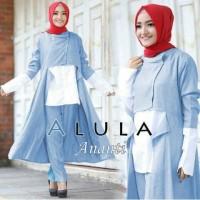 Ananti set biru muda [ setelan baju muslim ]