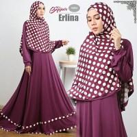 Gamis Erlina syari purple