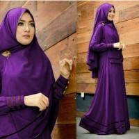 Gamis Syfa syari purple