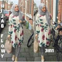 Neni Putih Abu Flow [ setelan baju muslim ]