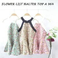 FLOWER LIST HALTER TOP A 964