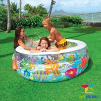 INTEX Kolam Renang Pompa Anak Besar | Aquarium Pool | 152x56 cm