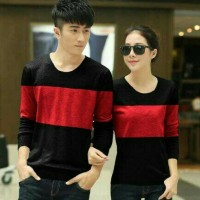 coupe blouse merah hitam murah