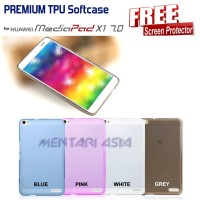 Softcase HUAWEI Mediapad X1 : PREMIUM TPU Softcase ( + Murah
