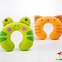 INTEX Bantal Angin Leher Anak | Travel Pillow Kids | Cat & Frog
