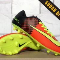 Sepatu Bola Anak Nike Mercurial Vapor X Orange Hitam