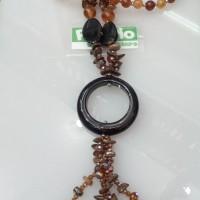 Kalung Batu Akik Fashion Liontin Donat