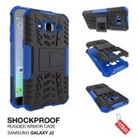 Samsung Galaxy J2 Rugged Shockproof Armor Hybrid Hard Case & S (Ob)