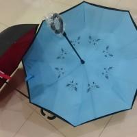 payung standard fiber bahan sutra 2 susun. anti air tumpah