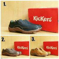 Sepatu kickers jacko slip on casual pria (hitam, coklat dan tan)