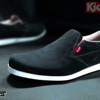 Sepatu casual pria Kickers slip on RL suede 5 pilihan warna bagus
