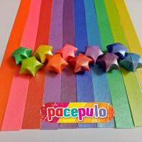 K-04 Kertas Origami Bintang Metalik / Metalic Paper Star