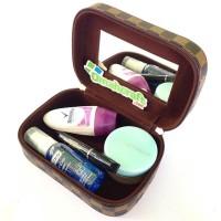Tas Kosmetik Mini Motif Damier / Mini Cosmetic Case / Tempat Make Up