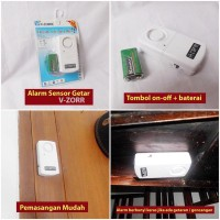 Jual Alarm Sensor Getar V-ZORR Baru   Peralatan Kebutuhan Rumah Tang