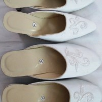 sepatu selop pengantin pesta kebaya couple akad nikah prewedding