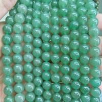 Batu Natural Green Aventurine 8mm / Bahan Aksesoris Gelang Kalung