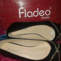 Flat shoes Fladeo/hitam rantai size 37