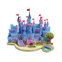Puzzle 3D Bahan EPS Foam Bangunan Istana DIY Prakarya Anak DF023