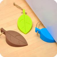 penahan pintu bentuk daun dari plastik / leaf door stopper - hhm120