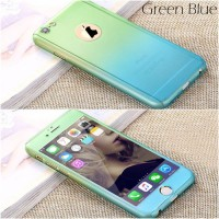 iPhone 5 5s SE ombre fullcover 360 case casing with tempered glass