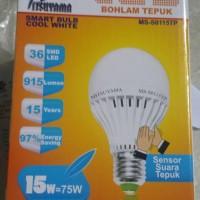 lampu bohlam tepuk led 15 watt (sensor suara)
