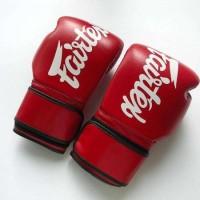 Glove Fairtex Red Polos + Handwrap Fairtex Sepasang