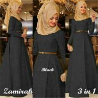 Hijab Maxi Zamirah 3in1 Black