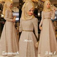 Hijab Maxi Zamirah 3in1 Mocca